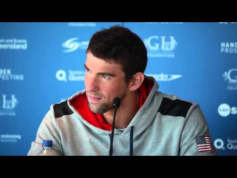 Michael Phelps - Pan Pacific Championships, Pre-Meet Press Connference