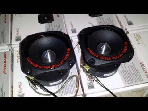 Pyramid Heavy Duty Titanium Super Bullet Tweeter TW44 Demo