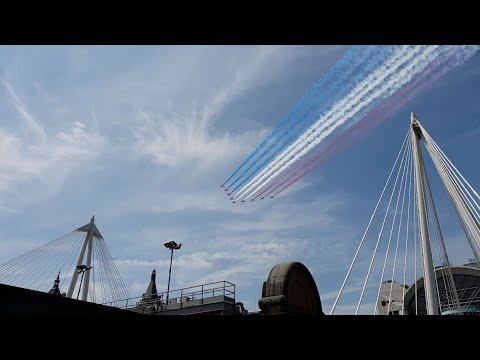 Military Flypast Over London, Trooping The Colour 2018.