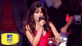 Camila Cabello Accepts Best Artist Award | MTV EMAs 2018