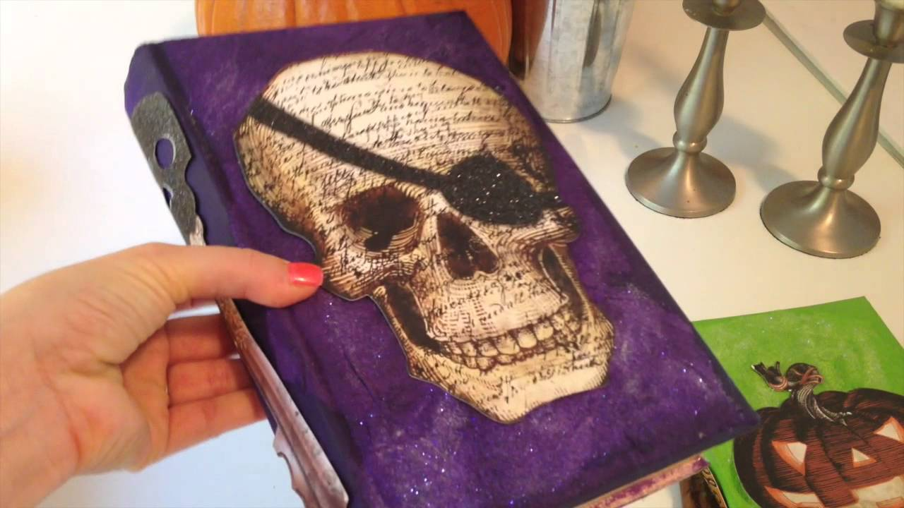 Diy craft halloween altered books youtube for Art book decoration ideas