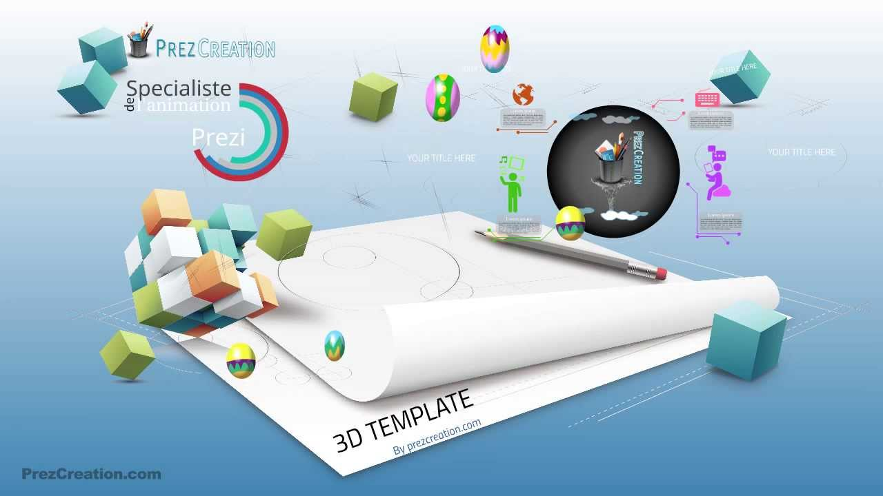 How to make a 3d prezi background
