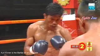 Kun Khmer, Chhut Sereyvanthorng Vs Thai, Dangkangwan, MyTV boxing, 30 March 2018  Fights Zone