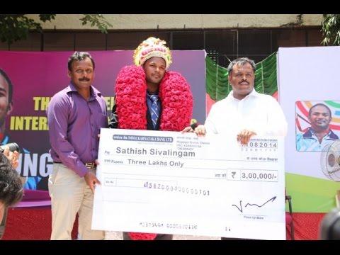 Sathish Sivalingam Honoured by Velamma School