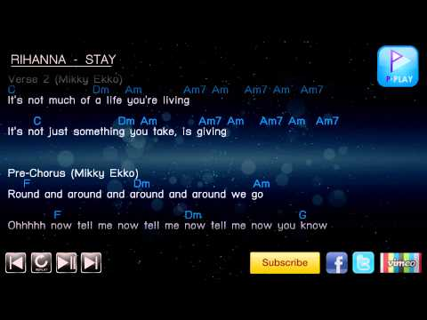 Rihanna - Stay [Chord & Lyrics]