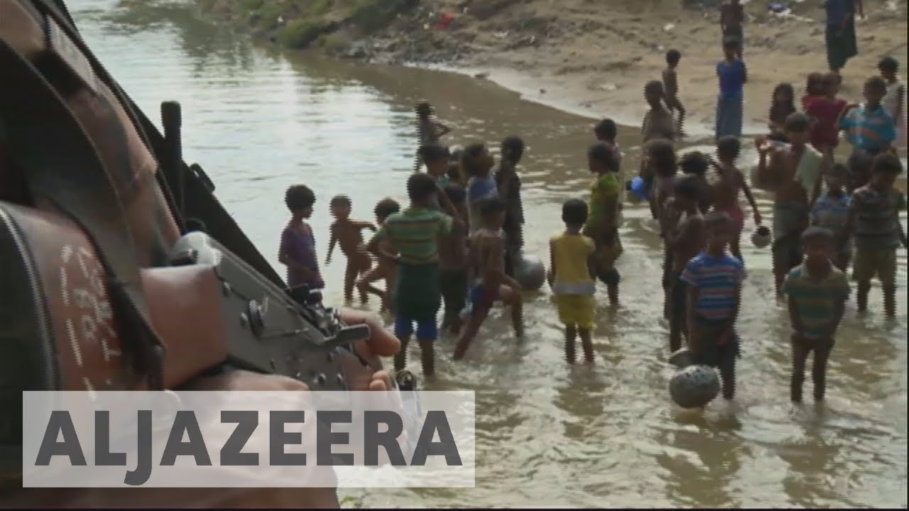 Rohingya refugees fleeing Myanmar to Bangladesh
