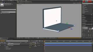 Opening the laptop 3D.  Lesson After Effects