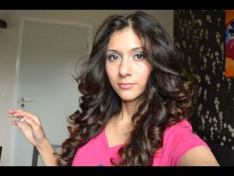 Видео как уложить волосы