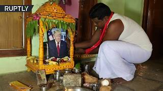 Video: Trump worshipped as Hindu God in Indian village - RT News