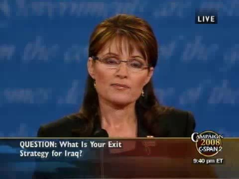 Vice Presidential Debate 2008 HQ (Part 5/11) 10/02 Palin Biden Debate 2008 - Sarah Palin Joe Biden VP Debate Thursday October 2nd at Washington University in St Louis MO in HIGH QUALITY (Part 5/11) Video