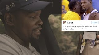 Kevin Durant Reacts to Twitter Meme of Him & Draymond Green's Pep Talk
