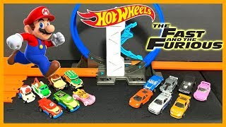 Hot Wheels Super Mario vs Fast and Furious Boost Loop Tournament