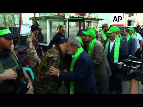 Hamas militants mark first anniversary of battle against Israel