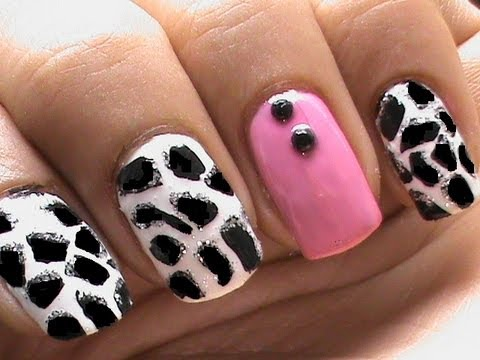 giraffe nail art tutorial cute  youtube