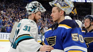 Blues, Sharks shake hands after Western Conference Final