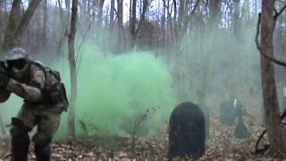 Real Military WoodsBall Scenario Game By X-Treme Tactical PaintBall
