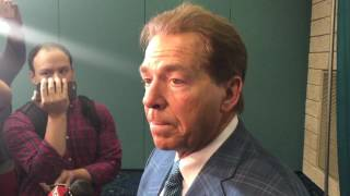 Nick Saban on NFL draft, Brian Daboll & Aaron Robinson