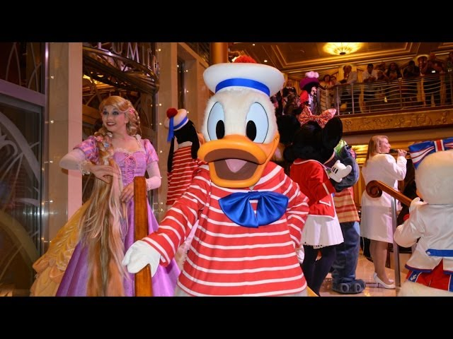 "Disney Magic Cruise ""Till We Meet Again"" Character Goodbye with Captain Mickey, Donald Duck"