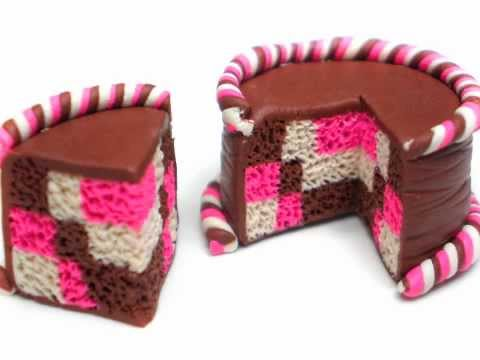Clay Made Easy: Checkerboard Pattern Cake (**Turn on captions**)