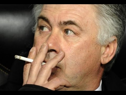 Carlo Ancelotti SMOKING (vs Espanyol) 2015 HD