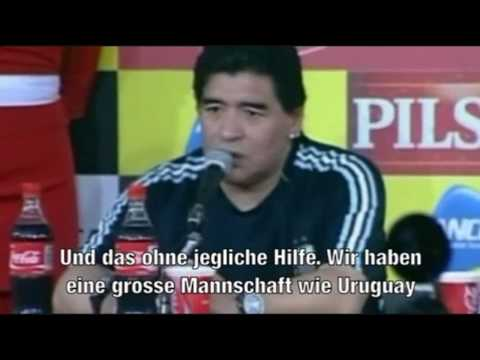 Diego Maradona (*keep sucking*) press conference (*Que la sigan chupando*) Pressekonferenz