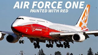 AIR FORCE ONE to be PAINTED in RED!