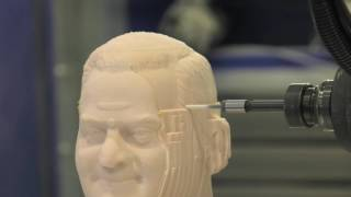 Thermwood Model 90 Machining Bust in Low-Density Foam