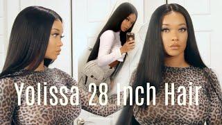 Yolissa 28 inch Brazilian Straight Review | Affordable Aliexpress Hair