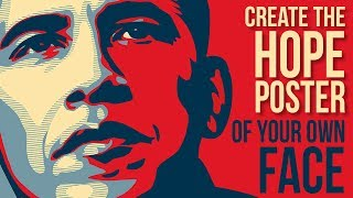 Photoshop Tutorial: Create & Personalize Obama's HOPE Poster Design