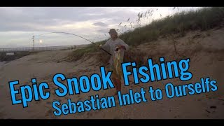 Hurricane Irma Fishing Part 3 - Epic Snook Fishing at Sebastian Inlet