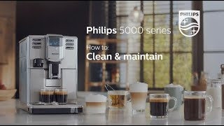 How to clean and maintain Philips 5000 series espresso machine | EP536X |