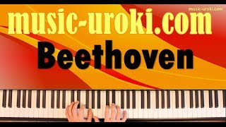 Л.В.Бетховен - Сурок / L.V.Beethoven - La Marmotte (piano cover + tutorial + ноты)