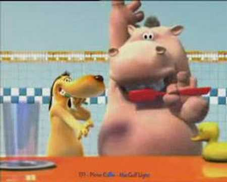 Hippo And Dog Brushing Teeth video