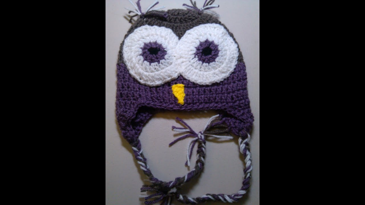 Crochet Owl Beanie - Part 1 - YouTube