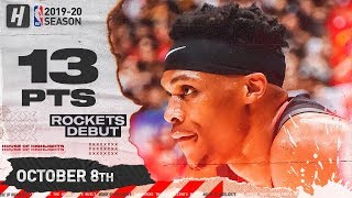 Russell Westbrook Rockets DEBUT Full Highlights vs Raptors (2019.10.08) - 13 Pts, 6 Ast!