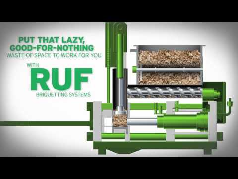 Wood Briquetting | Wood Briquetting Machines: RUF Briquetting Systems