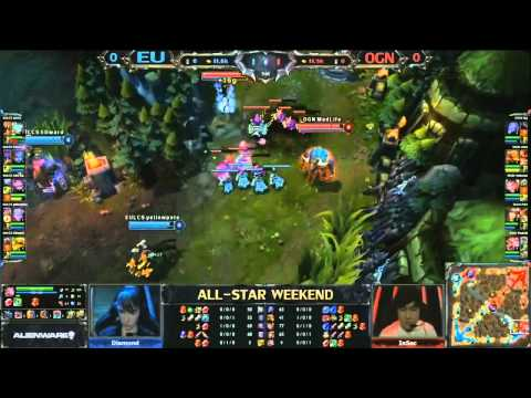All-Star Shanghái 2013 - LCS Europa vs OGN Korea - Partida 1 - LoL en Español