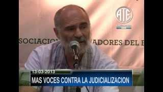 13-03-2013 CONFERENCIA DE PRENSA CONTRA LA JUDICIALIZACION PARTE 2