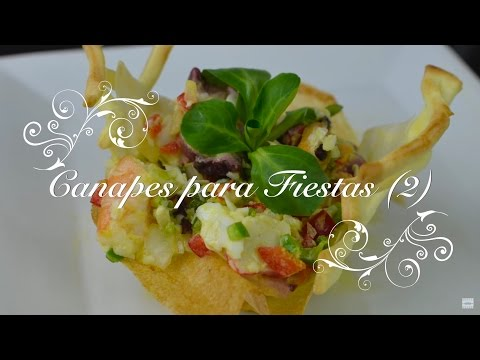 Canapes para fiestas 2 - Faciles y originales - Recetas de cocina por Chef de mi casa.com