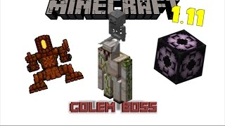 New Boss: The Golem | Minecraft Structure Mod