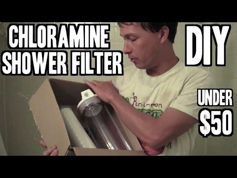 diy shower filter to remove chloramine for under 50 youtube. Black Bedroom Furniture Sets. Home Design Ideas