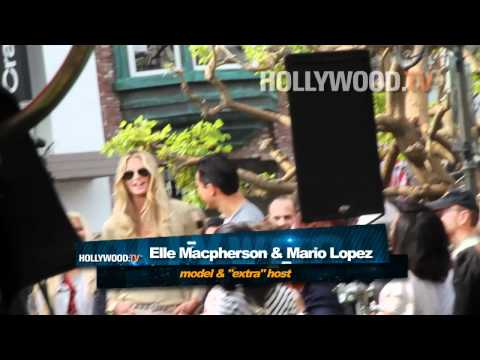 Elle Macpherson, Chris Kattan, Bar Rafaeli spotted at The Grove