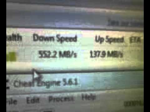 with help of cheat engine i make my speed 1gb