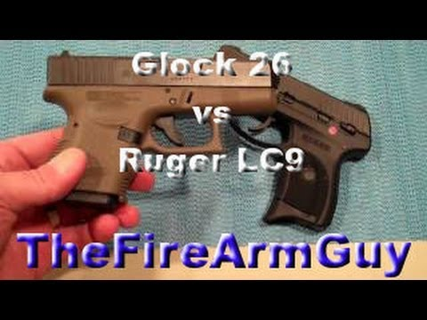 Glock 26 vs. Ruger LC9 - TheFireArmGuy