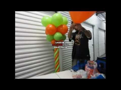 Como hacer una columna con globos decoraciones con - Decoraciones con globos ...