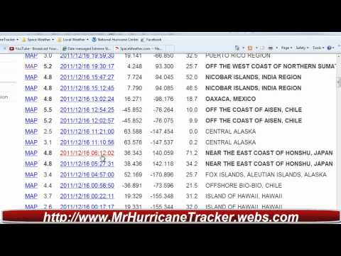 Earthquake Update December 16th 2011 Strange Activity