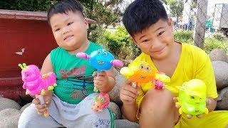 Đồ chơi trẻ em bé pin bắt sâu bắt chuột  ❤ PinPin TV ❤ Baby toys catch bug mouse