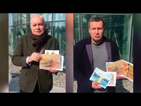 Киселев и Соловьев поддержали акцию в Ереване   открытки солдат к 8 марта