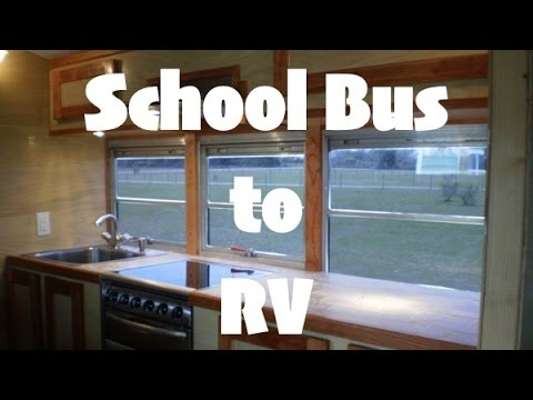 Amazing Good News School Bus to RV Conversion Skoolie Tiny Home