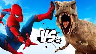 SPIDERMAN VS T-REX - TYRANNOSAURUS REX VS SPIDER-MAN